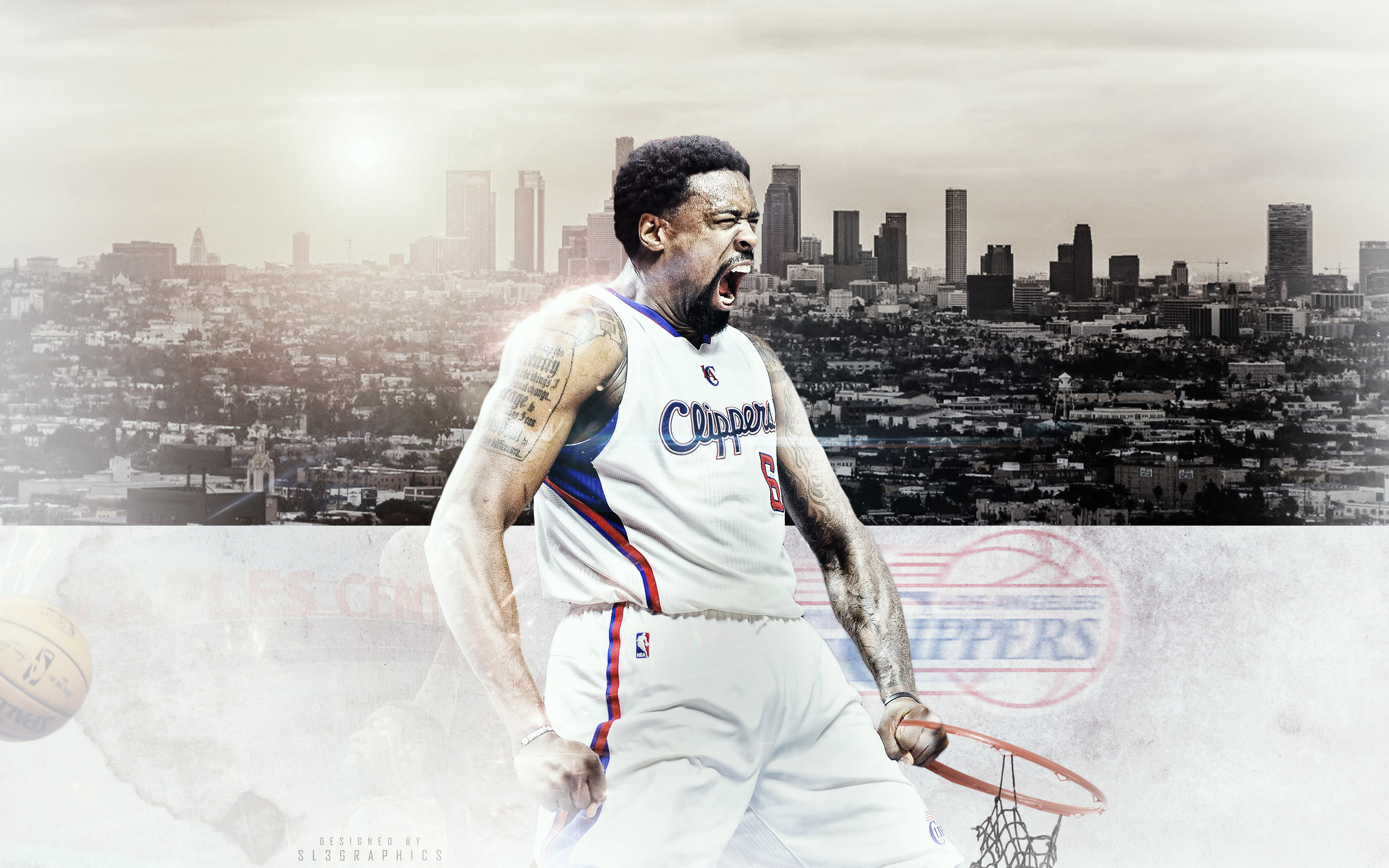 DeAndre Jordan LA Clippers 2015 Wallpaper