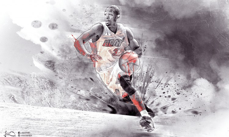 Dwyane Wade Heat HD 1920x1200 Wallpaper