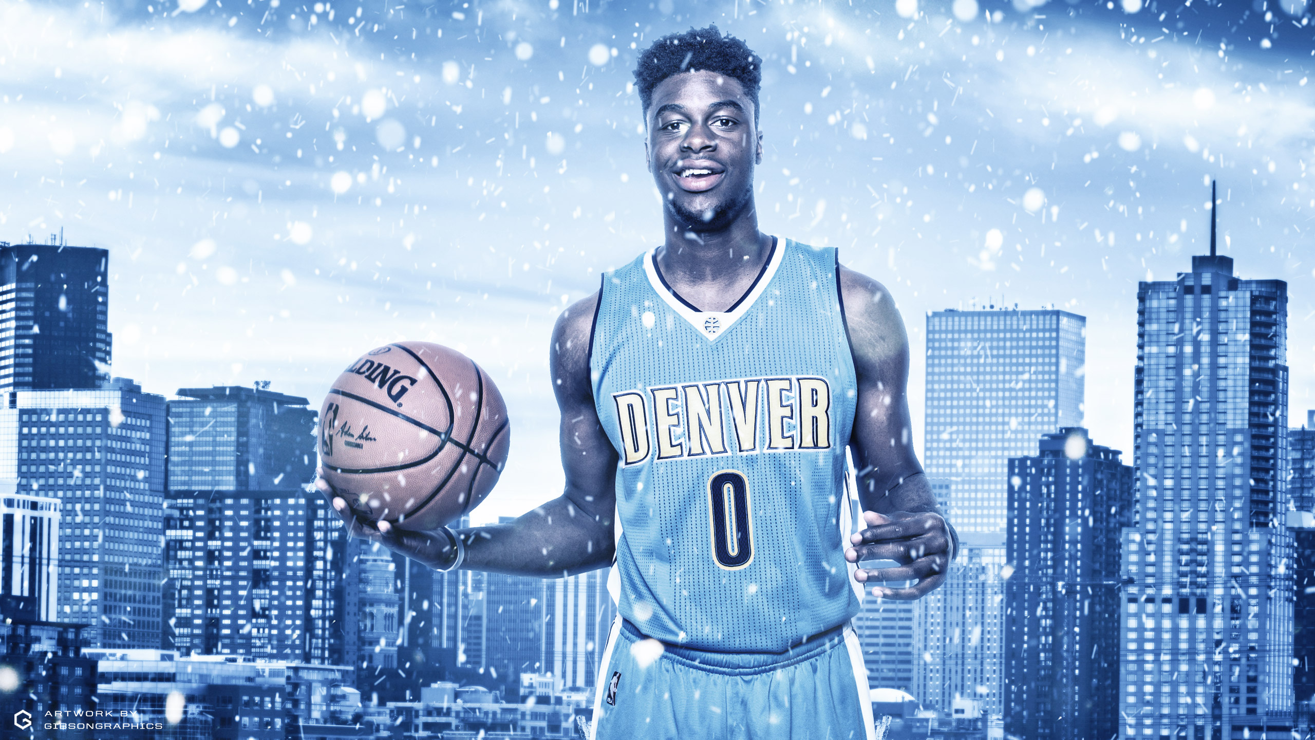 Emmanuel Mudiay Denver Nuggets 2015-2016 Wallpaper