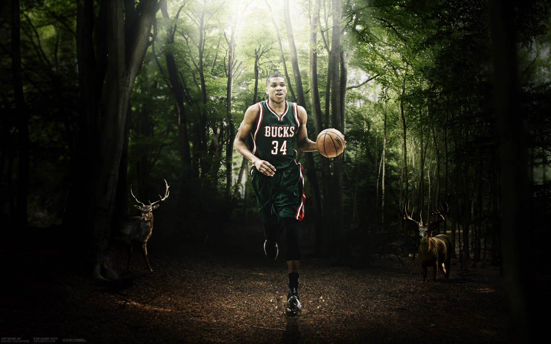 Giannis Antetokounmpo Bucks 2015-2016 Wallpaper