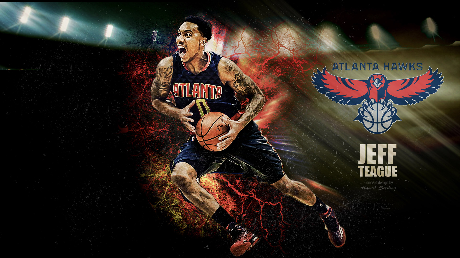 Jeff Teague Atlanta Hawks 2015-2016 Wallpaper