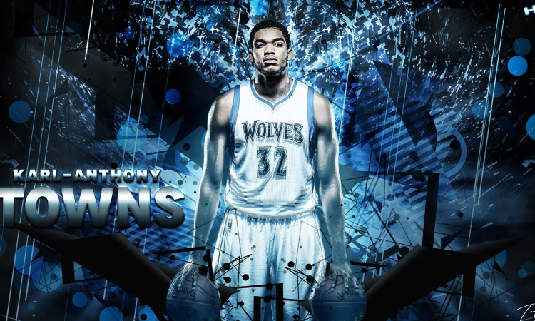 Karl-Anthony Towns Timberwolves 2015-2016 Wallpaper