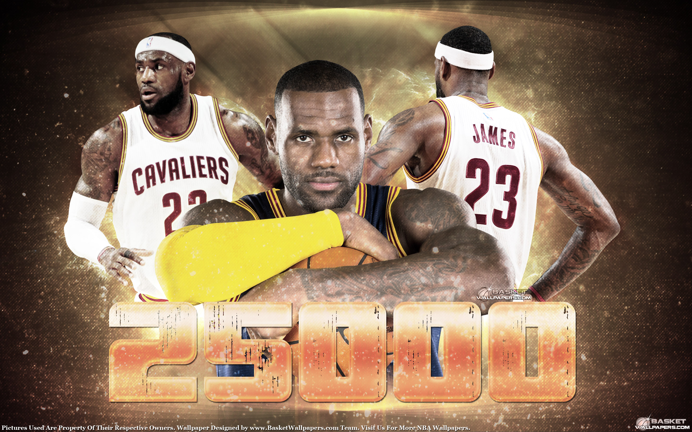 LeBron James 25000 Points Wallpaper