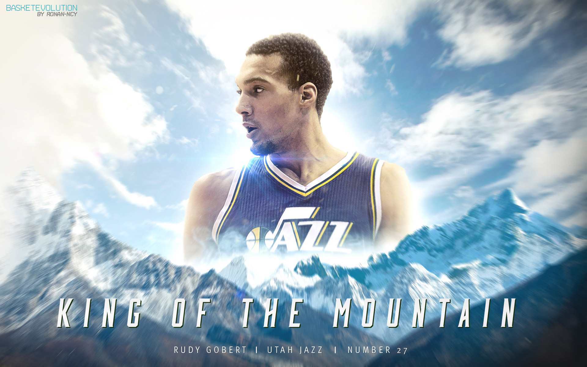 Rudy Gobert Utah Jazz 2015 Wallpaper