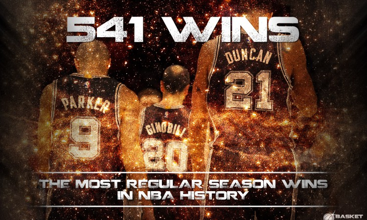 San Antonio Spurs Trio 541 Wins Wallpaper