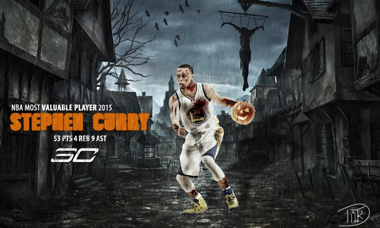 Stephen Curry Halloween 2015 Wallpaper
