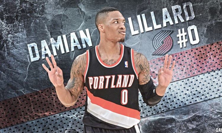 Damian Lillard Trail Blazers 2016 1920x1080 Wallpaper