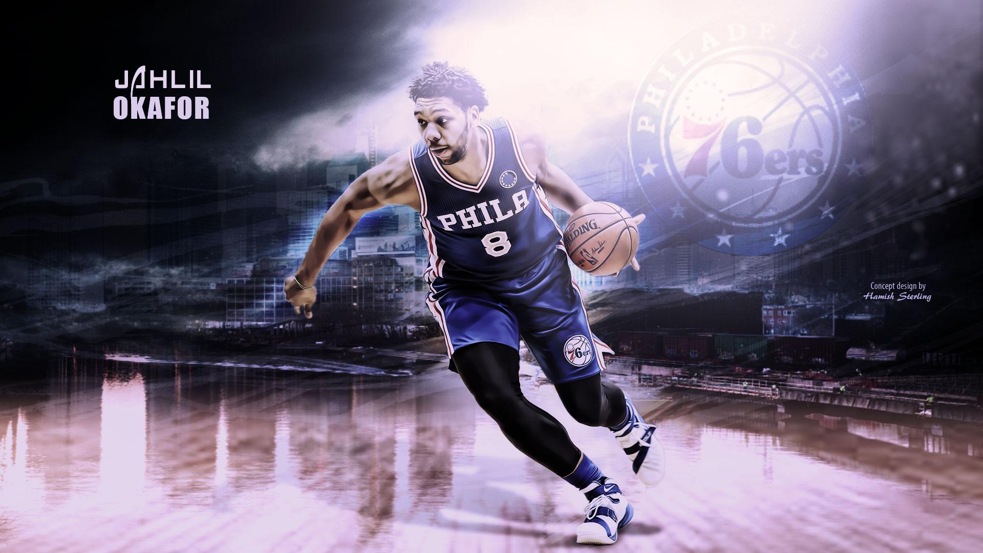 Jahlil Okafor Philadelphia 76ers 2016 Wallpaper