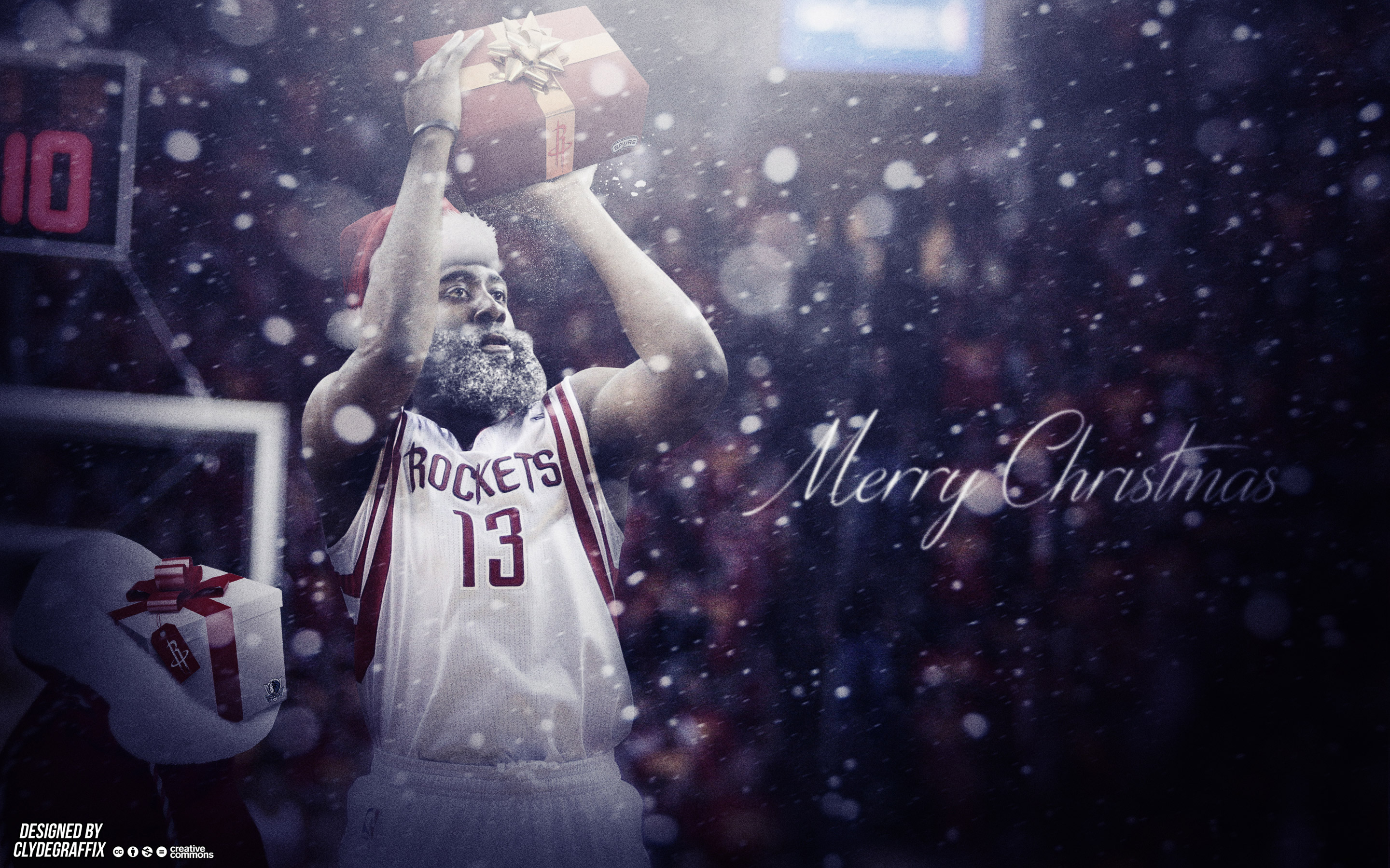 James Harden Christmas 2015 Wallpaper