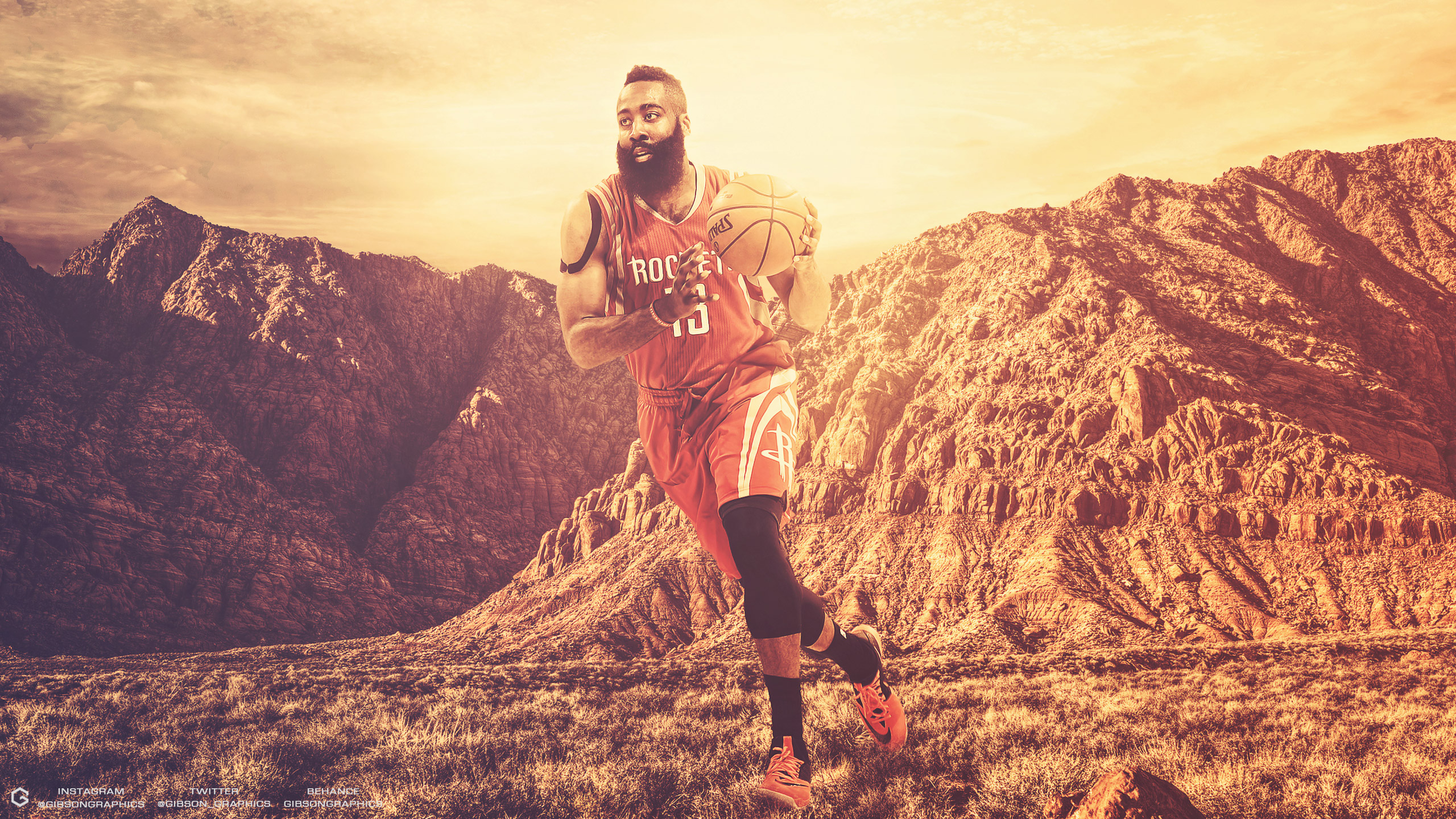 James Harden Rockets 2016 2560x1440 Wallpaper