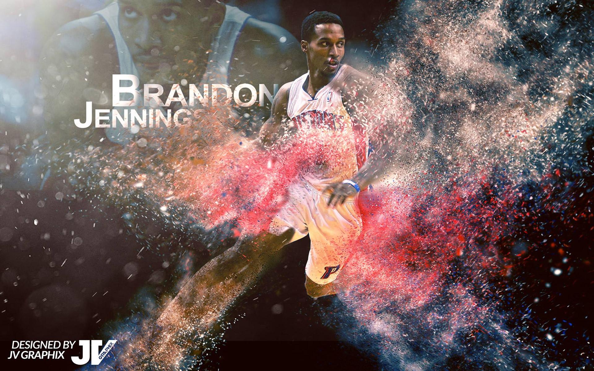 Brandon Jennings Pistons 2016 1920x1200 Wallpaper
