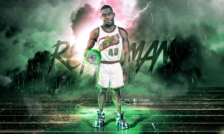Shawn Kemp Sonics 40 Wallpaper