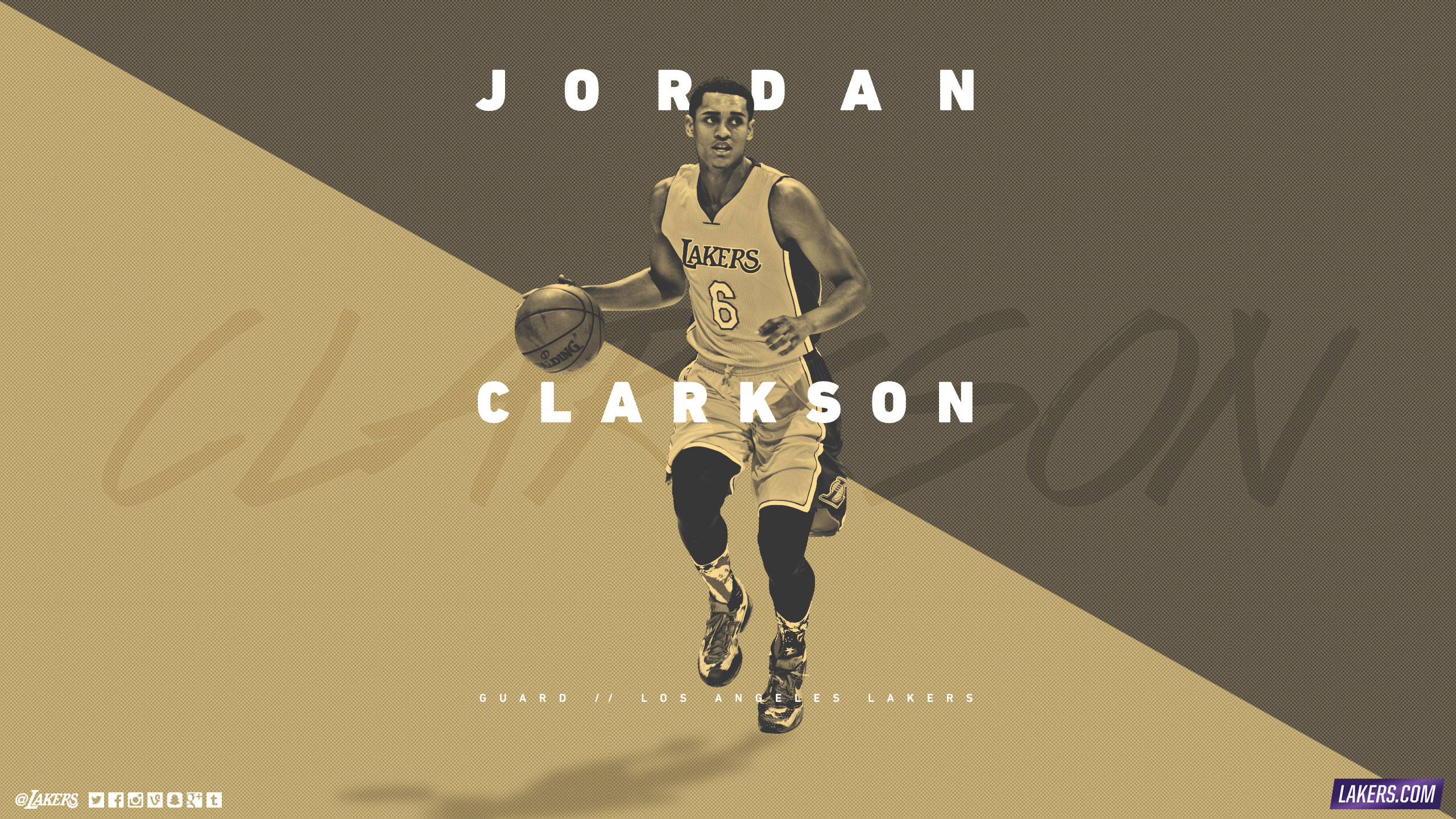 Jordan Clarkson LA Lakers 2015-16 Wallpaper