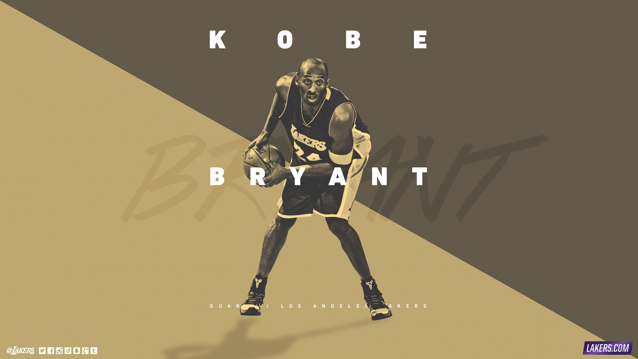 Kobe Bryant LA Lakers 2015 2560x1440 Wallpaper