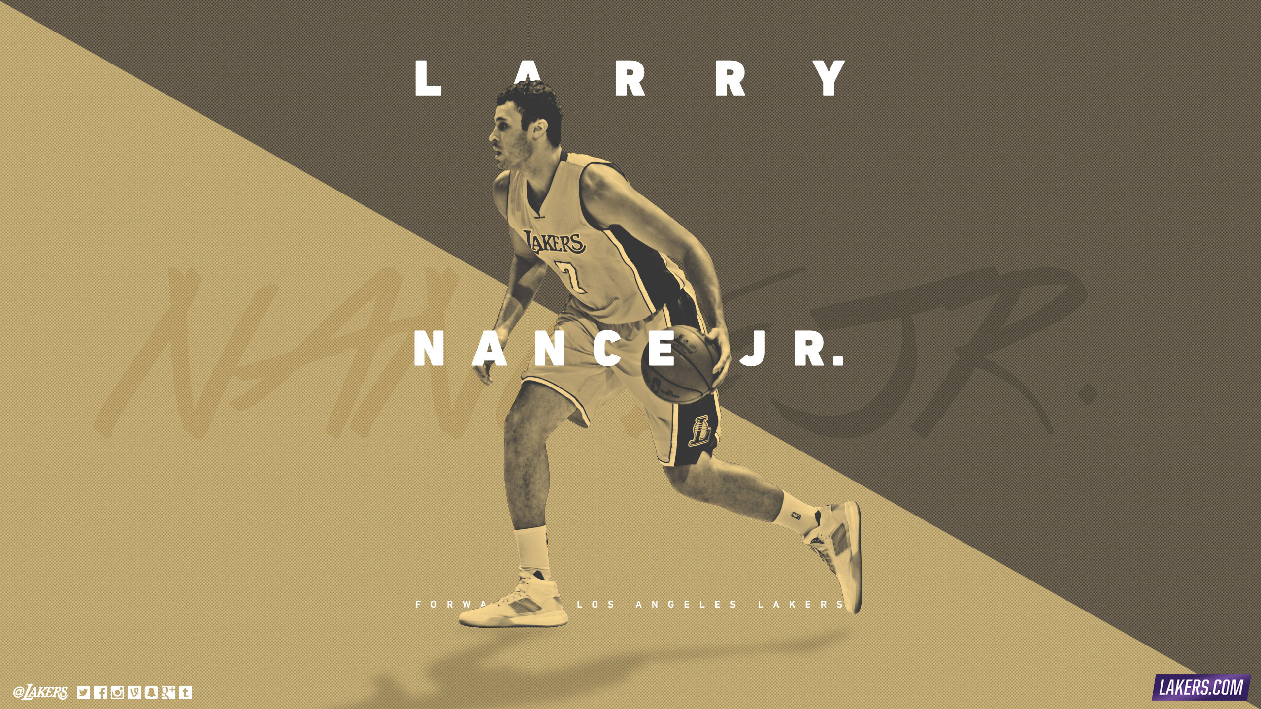 Larry Nance Jr LA Lakers 2015-2016 Wallpaper