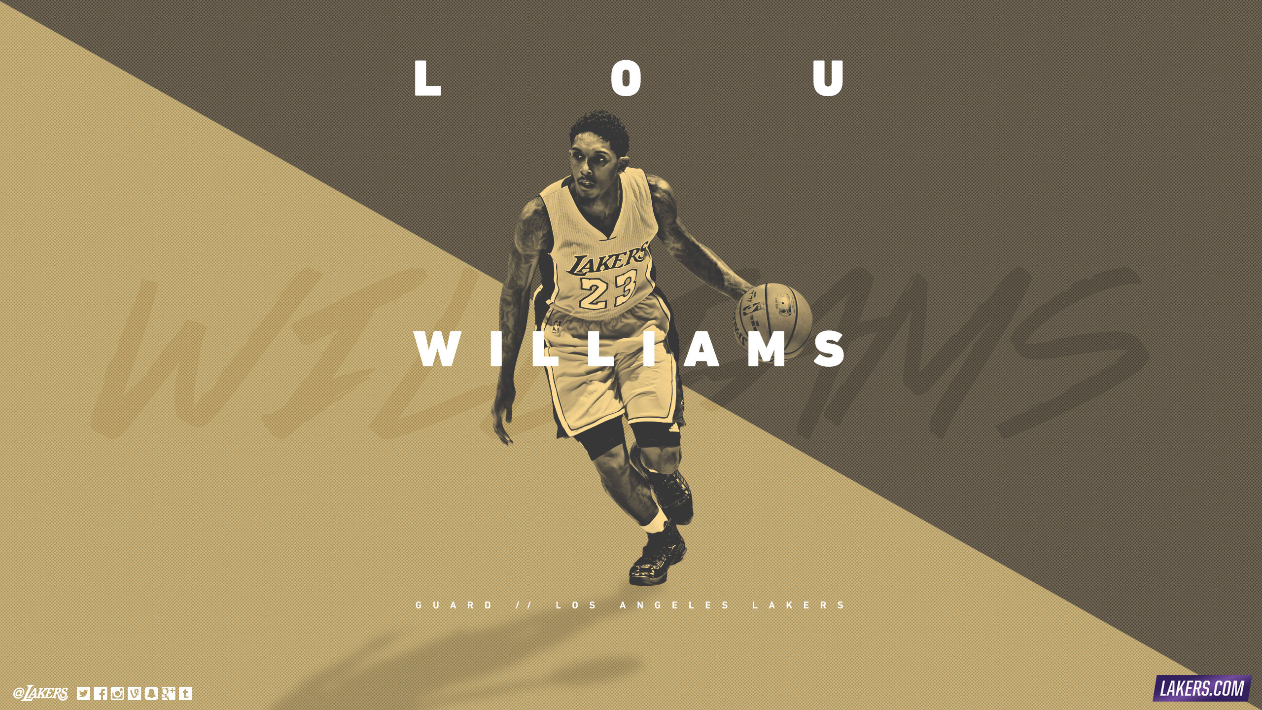 Lou Williams LA Lakers 2015-2016 Wallpaper