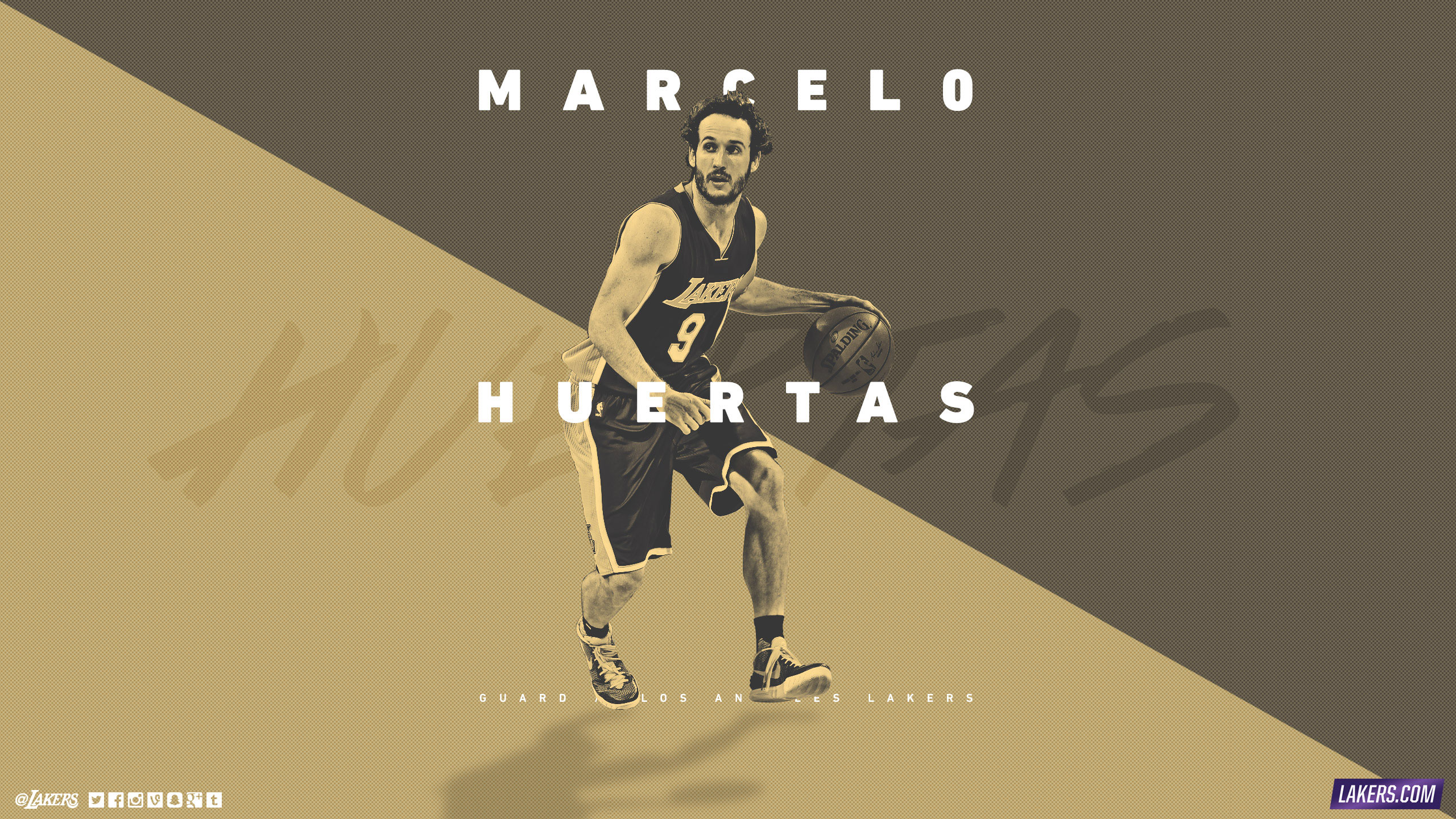 Marcelo Huertas LA Lakers 2015-2016 Wallpaper