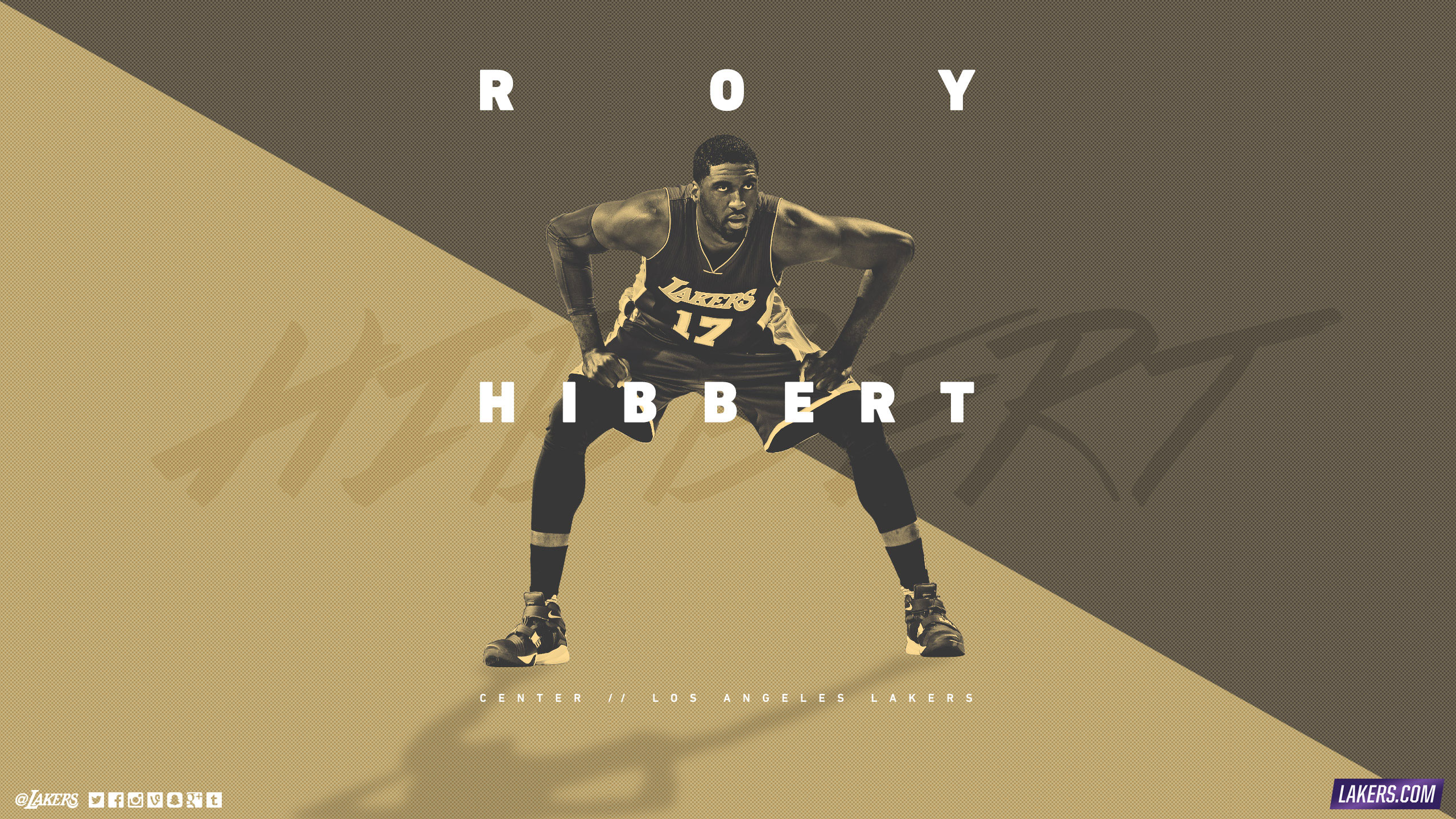 Roy Hibbert LA Lakers 2015-2016 Wallpaper