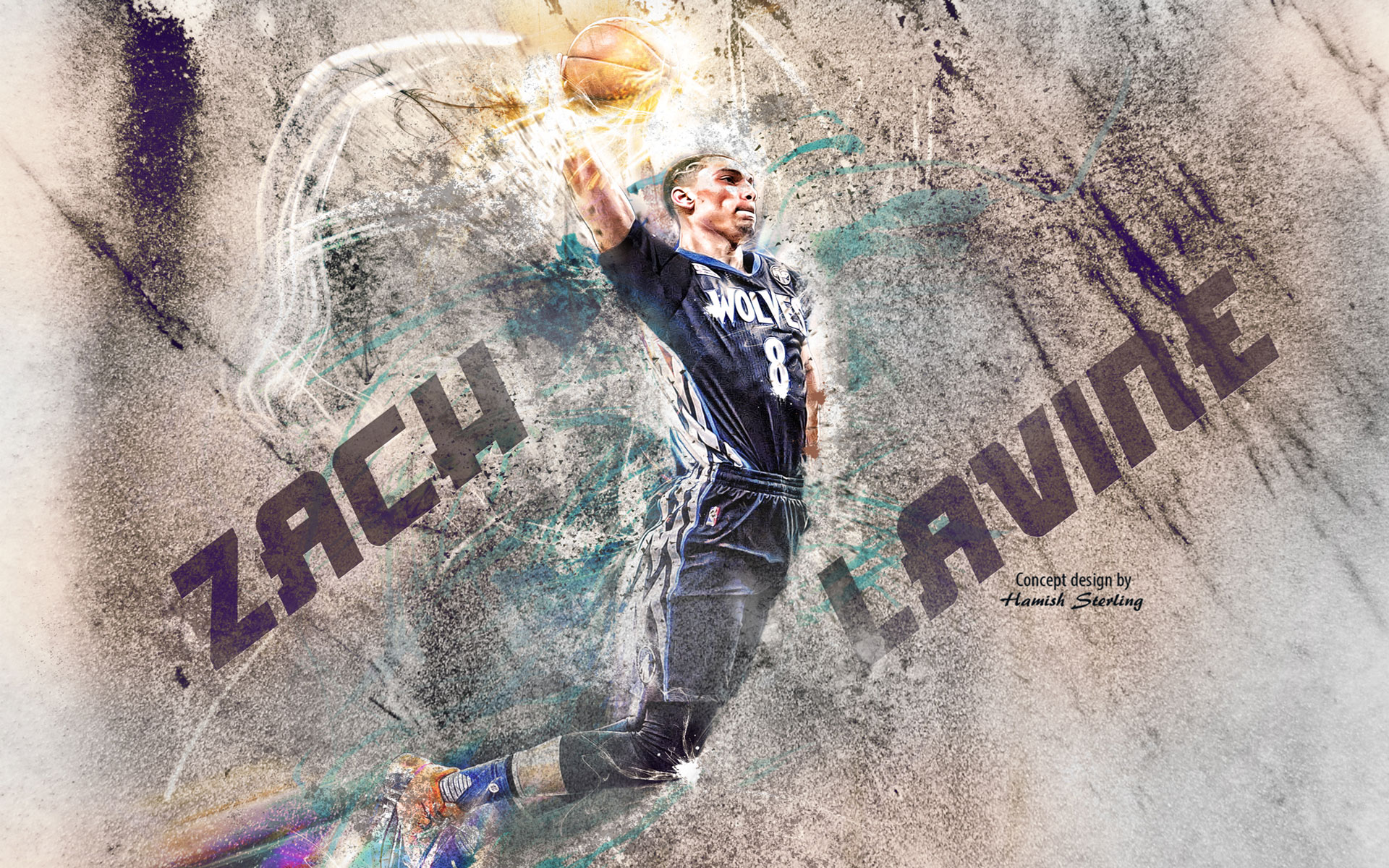 Zach LaVine 2016 Slam Dunk Wallpaper