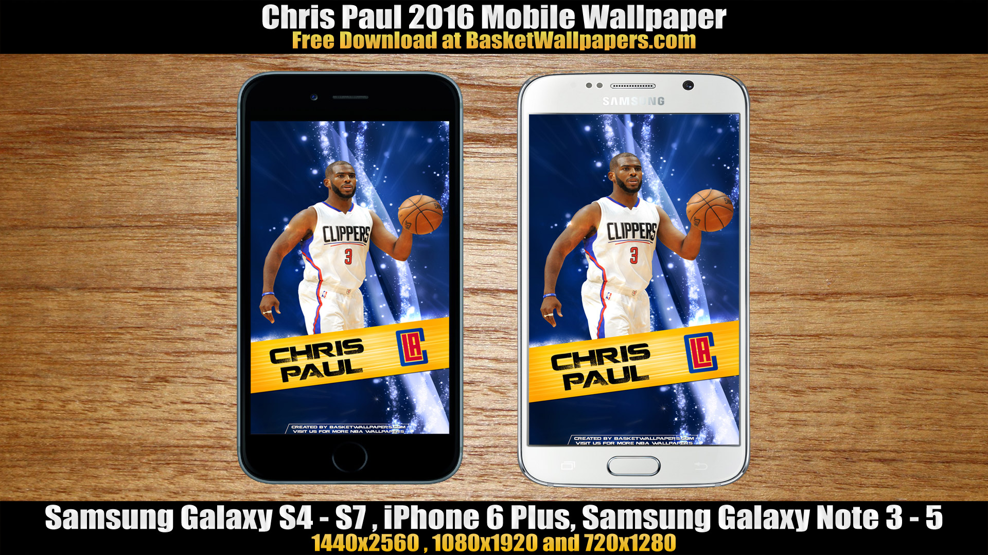 Chris Paul Los Angeles Clippers 2016 Mobile Wallpaper
