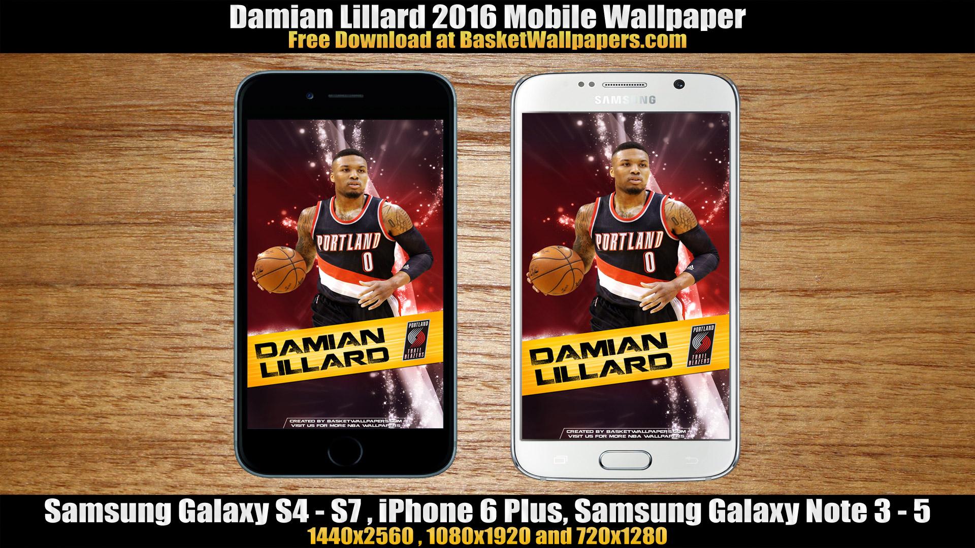 Damian Lillard Portland Trail Blazers 2016 Mobile Wallpaper