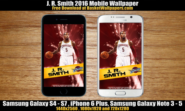 J. R. Smith Cleveland Cavaliers 2016 Mobile Wallpaper
