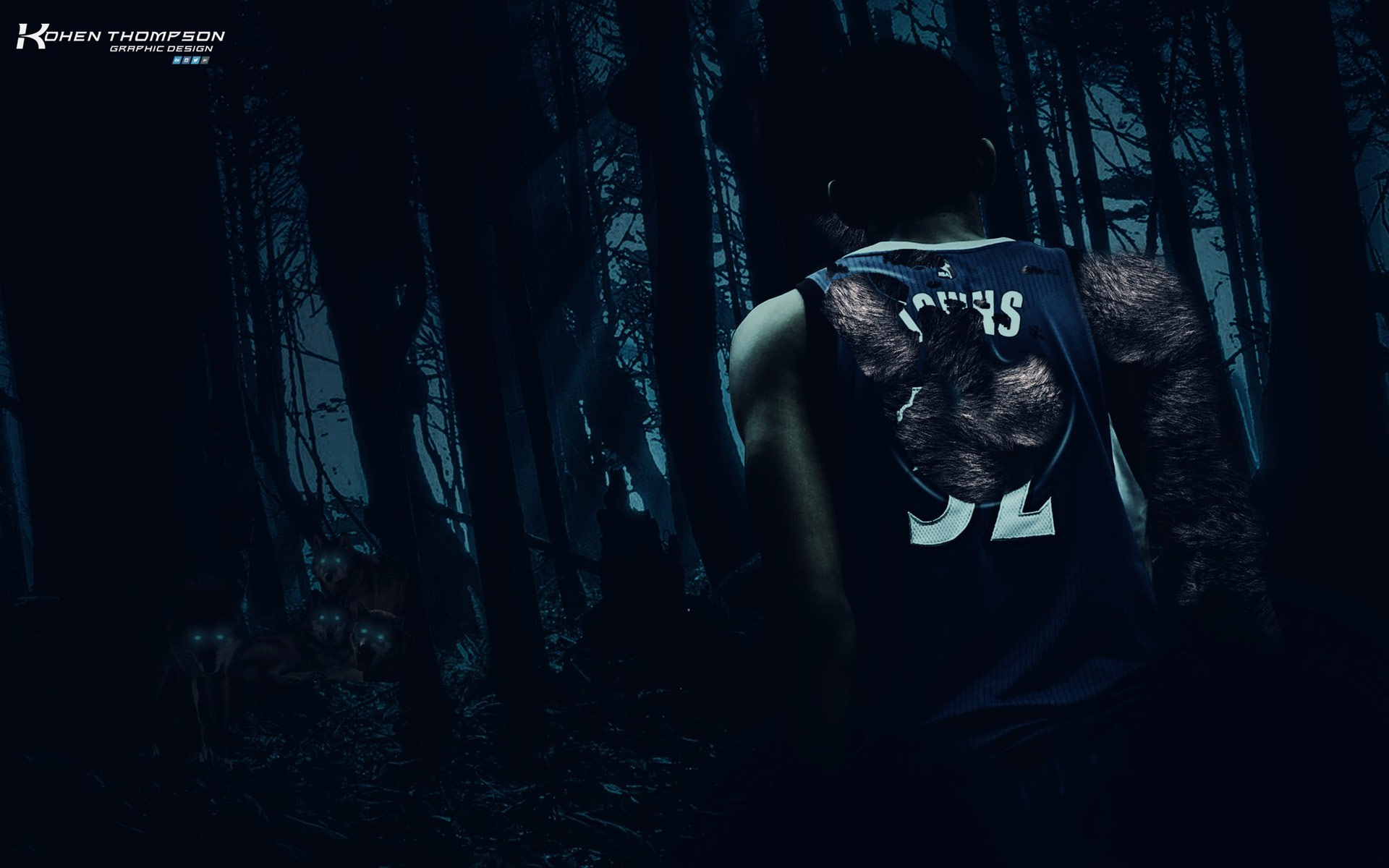 Karl-Anthony Towns Wolf 1920x1200 Wallpaper