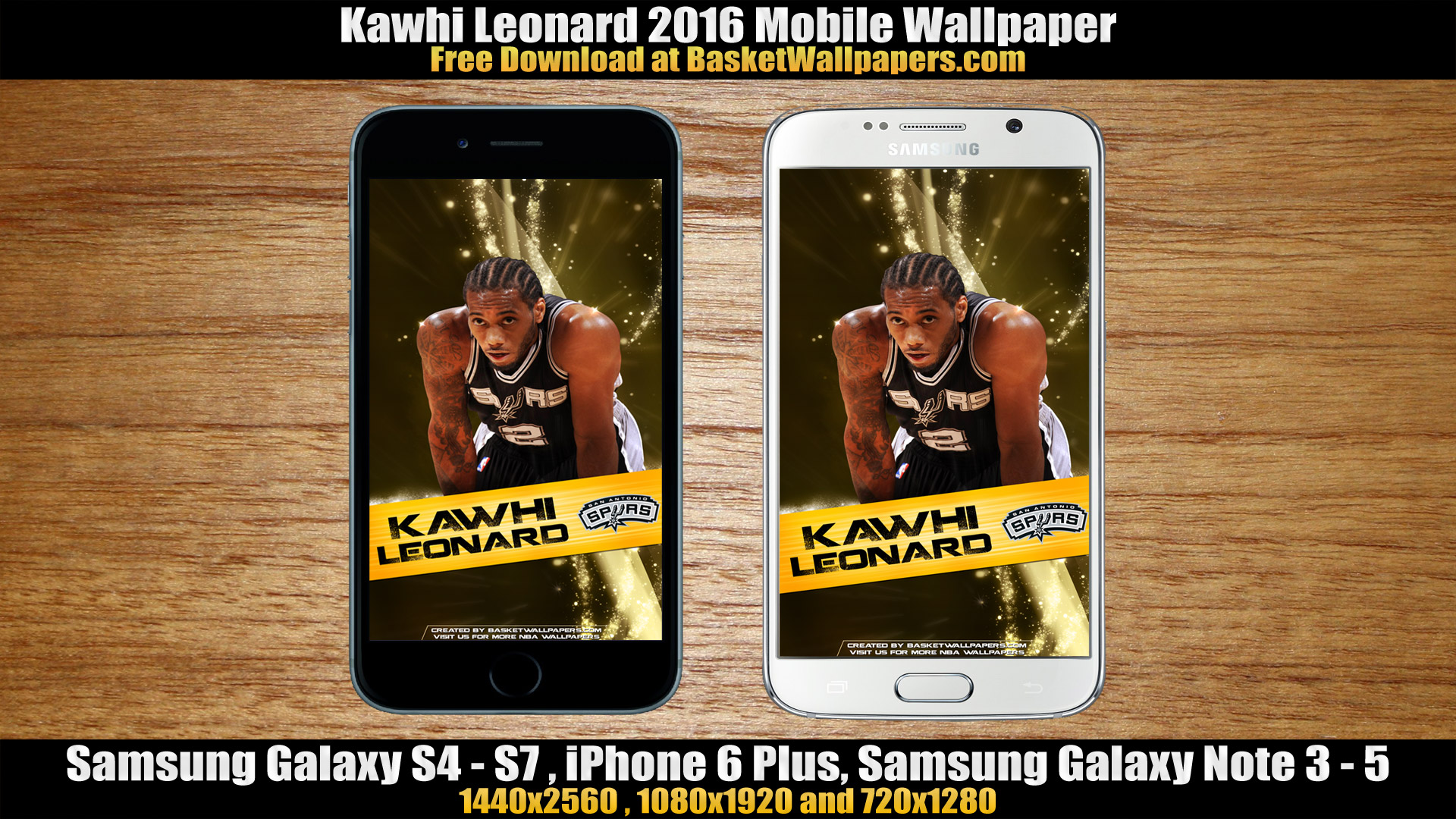 Kawhi Leonard San Antonio Spurs 2016 Mobile Wallpaper