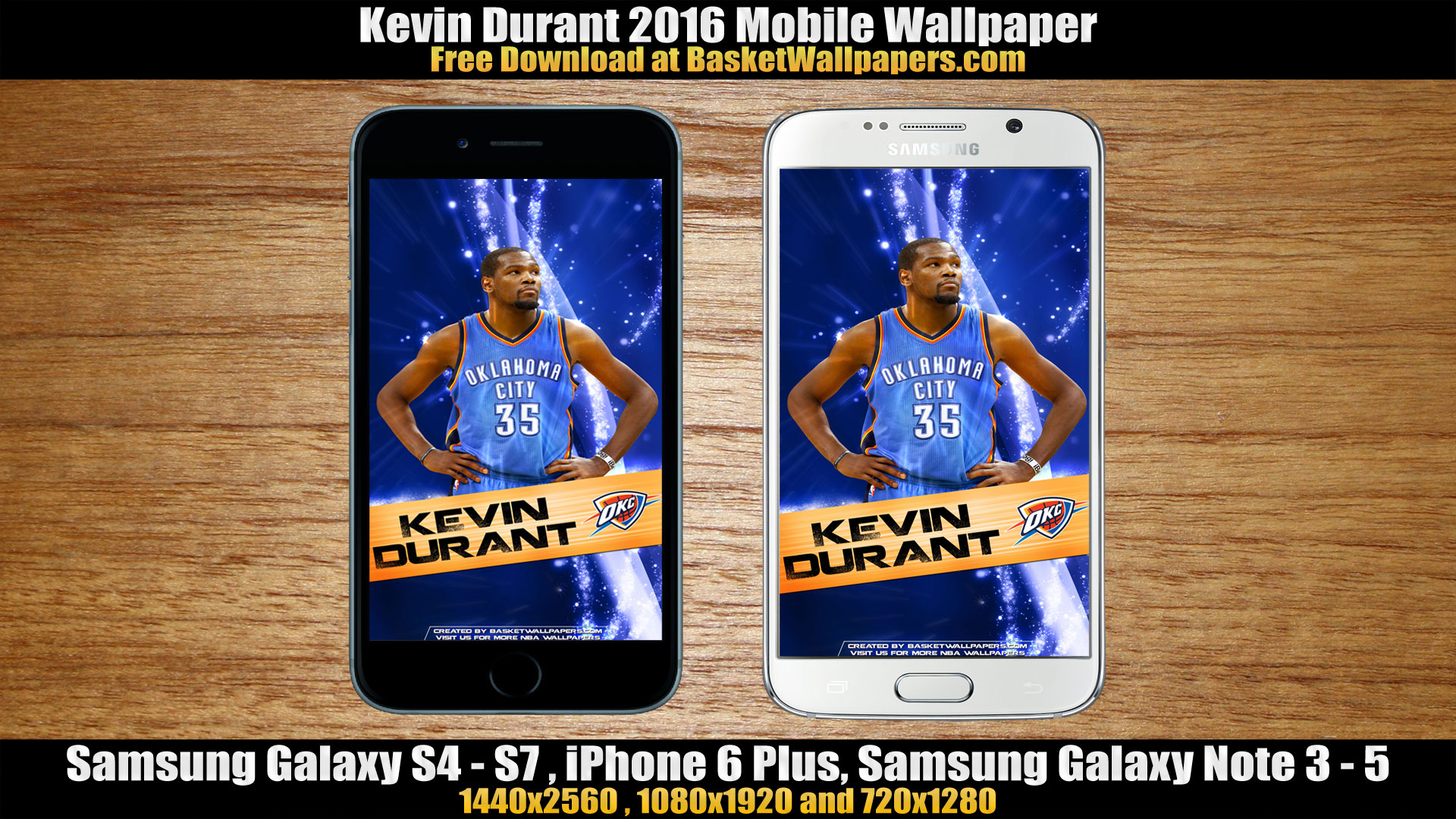 Kevin Durant OKC Thunder 2016 Mobile Wallpaper