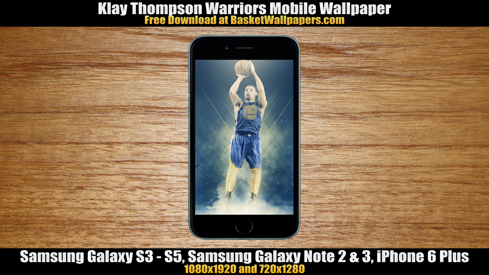 Klay Thompson Warriors Mobile Wallpaper