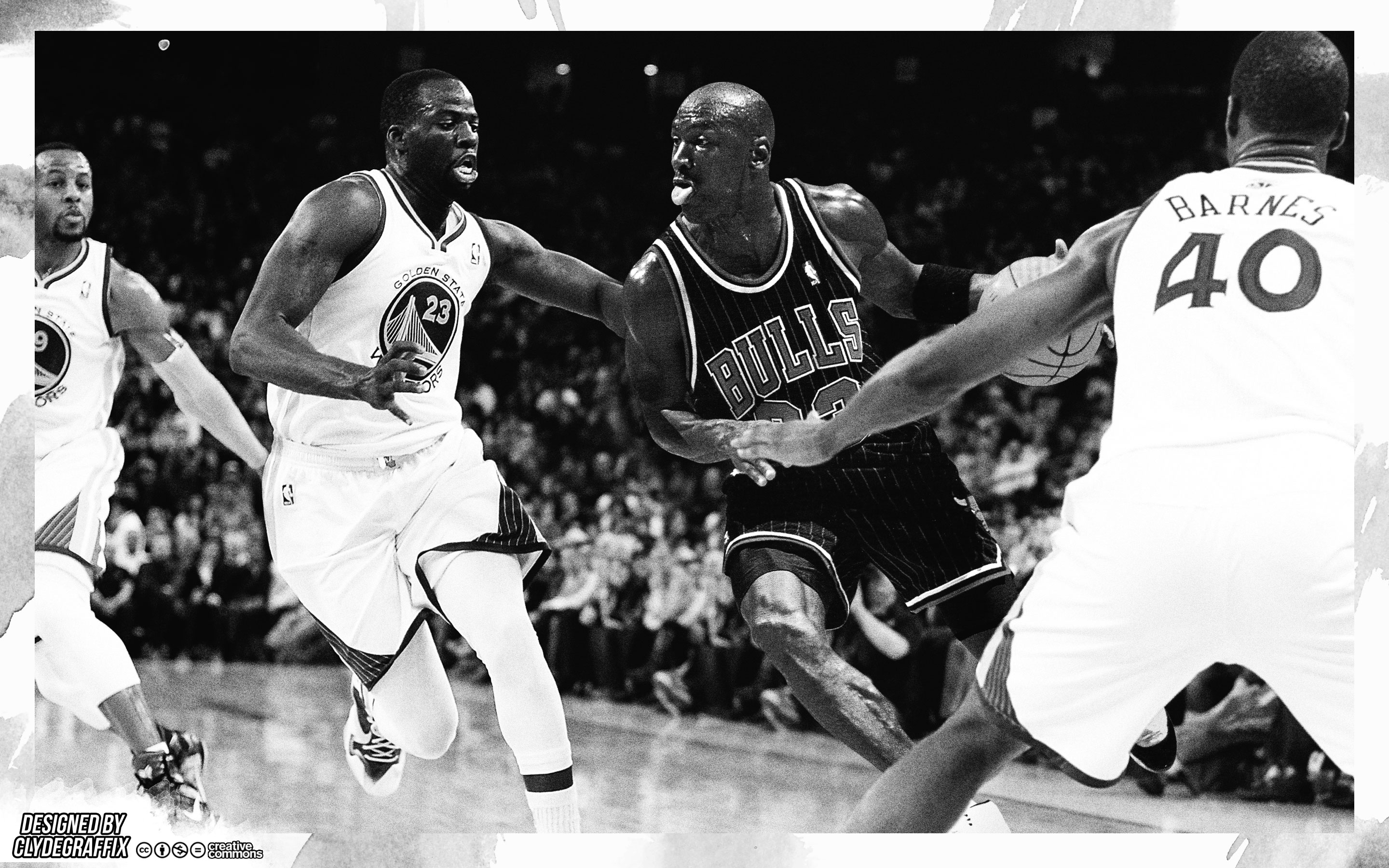 Michael Jordan vs 2015-2016 GS Warriors 2880x1800 Wallpaper
