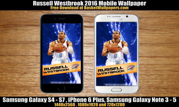 Russell Westbrook OKC Thunder 2016 Mobile Wallpaper