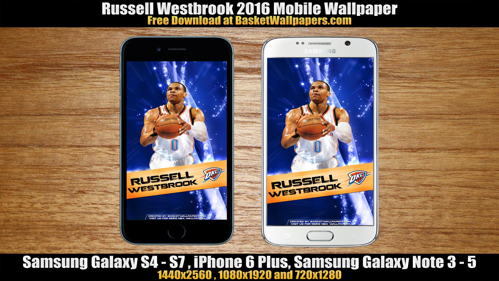 Russell Westbrook OKC Thunder 2016 Mobile Wallpaper