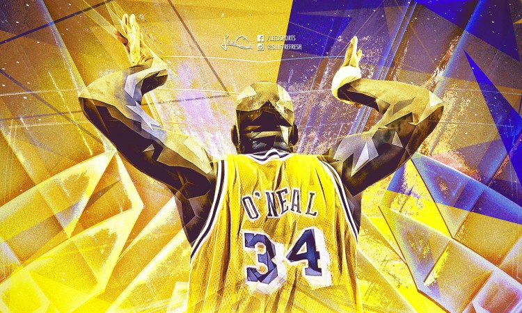 Shaquille O' Neal LA Lakers 1920x1200 Wallpaper