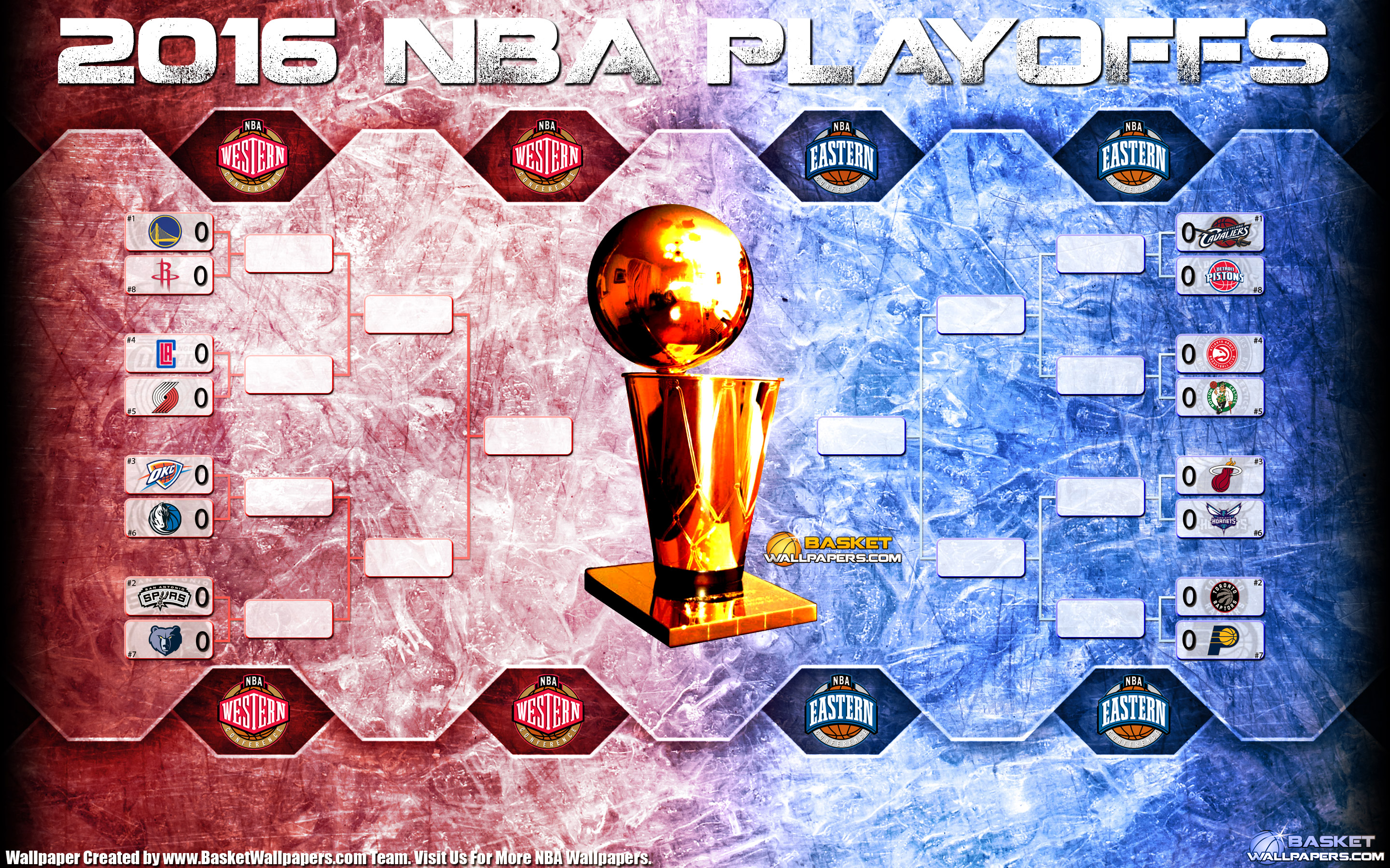 2016 NBA Playoffs Bracket 2880x1800 Wallpaper