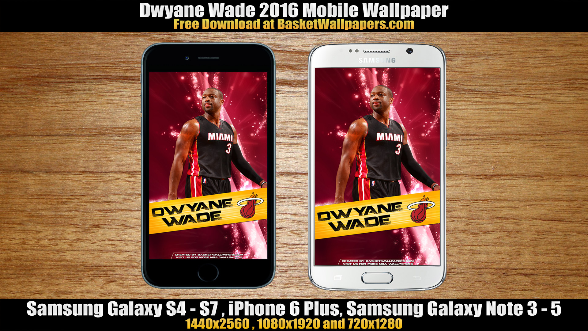 Dwyane Wade Miami Heat 2016 Mobile Wallpaper