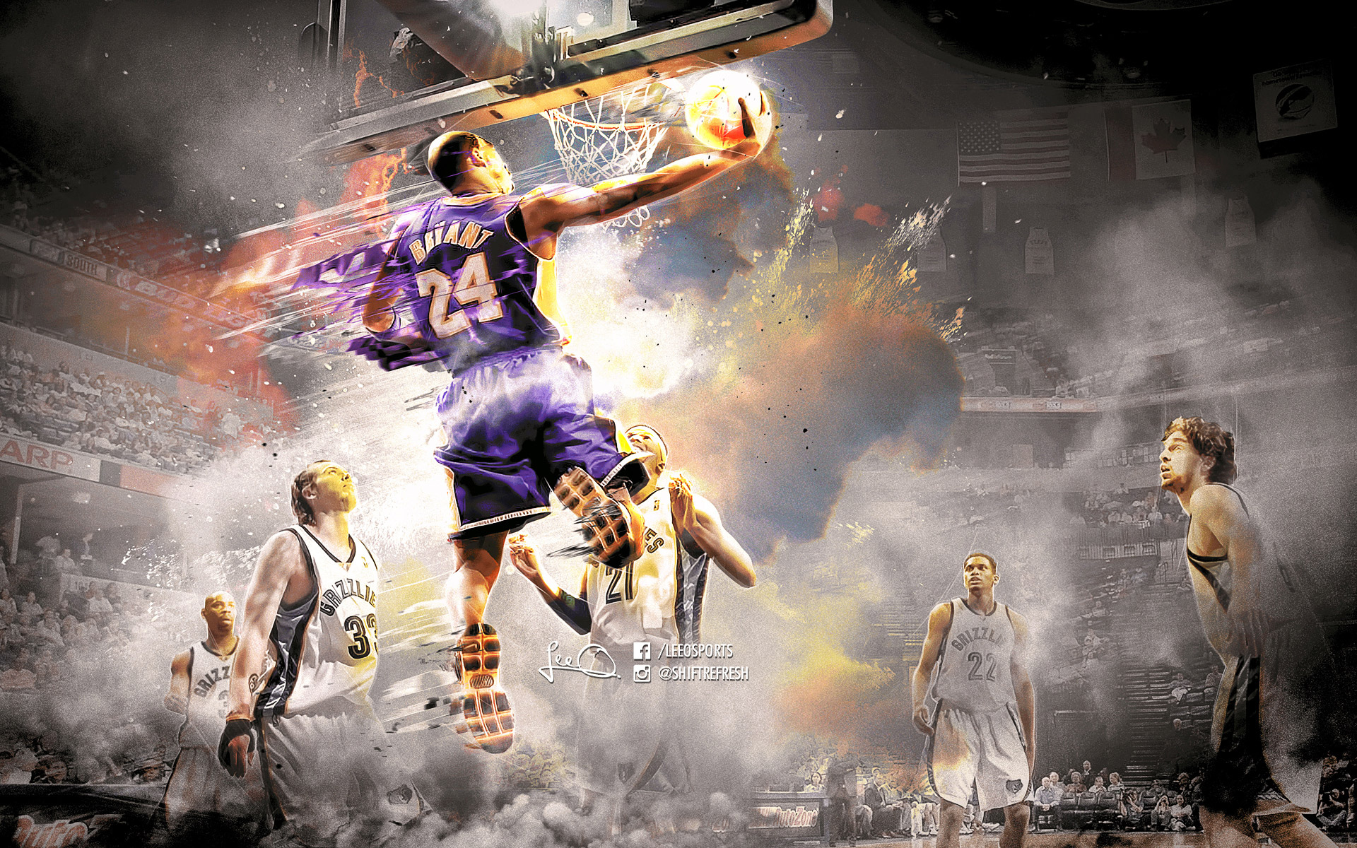Kobe Bryant 2016 Grizzlies 1920×1200 Wallpaper