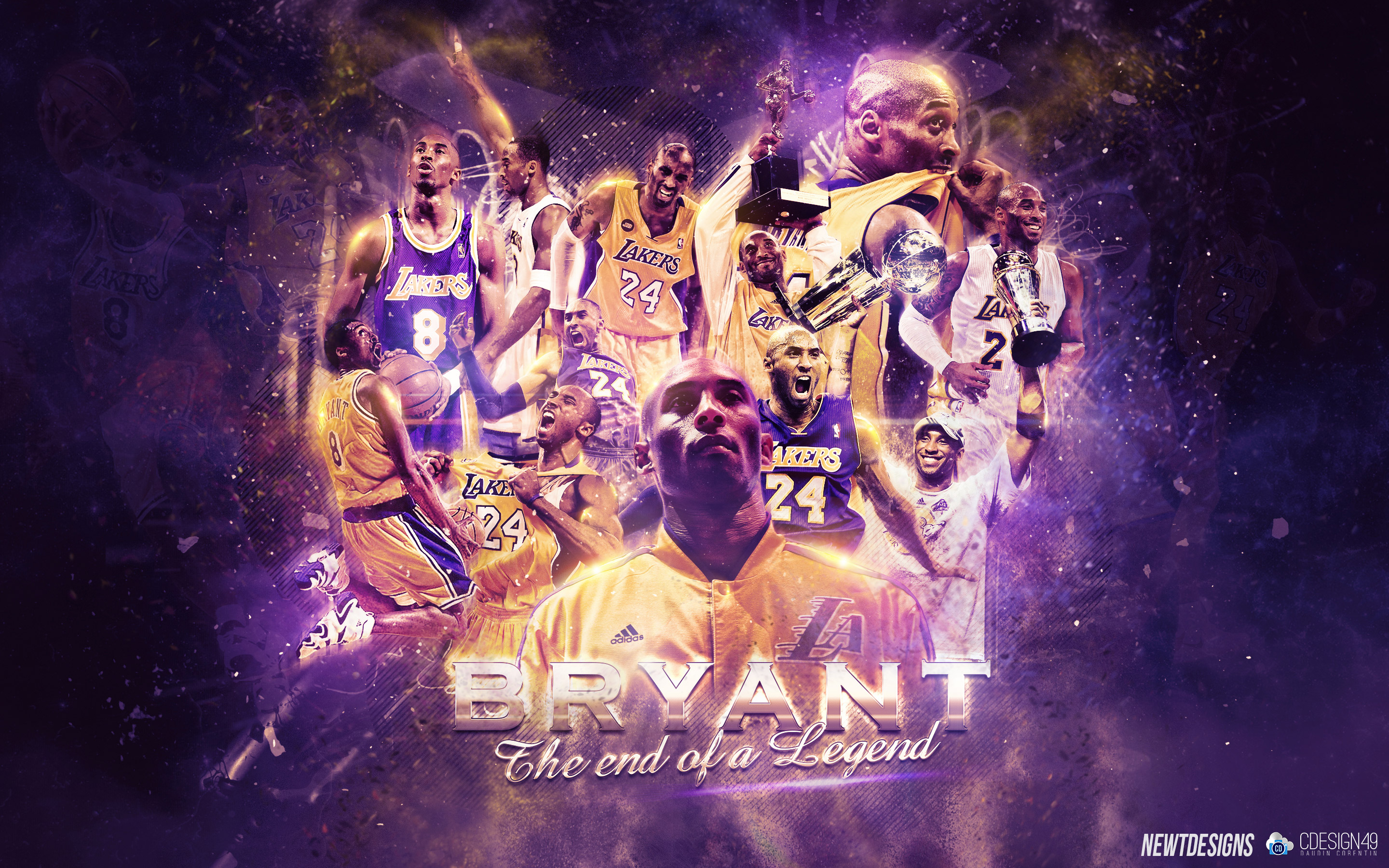 Kobe Bryant The End of a Legend Wallpaper