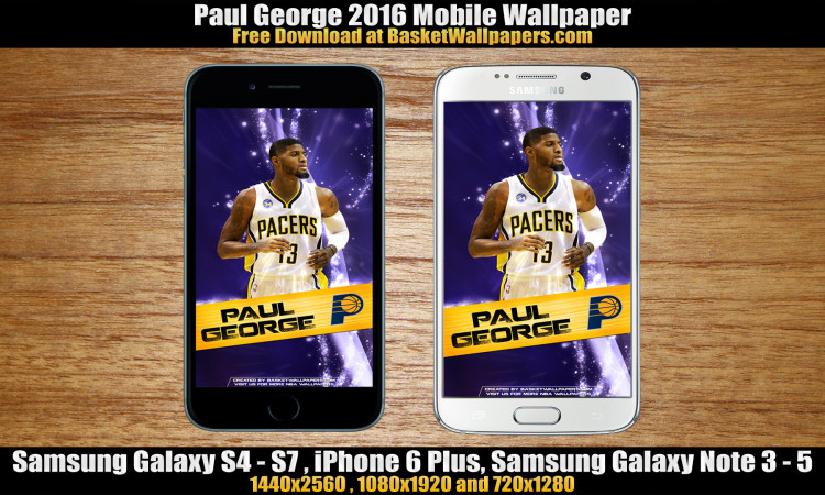 Paul George Indiana Pacers 2016 Mobile Wallpaper