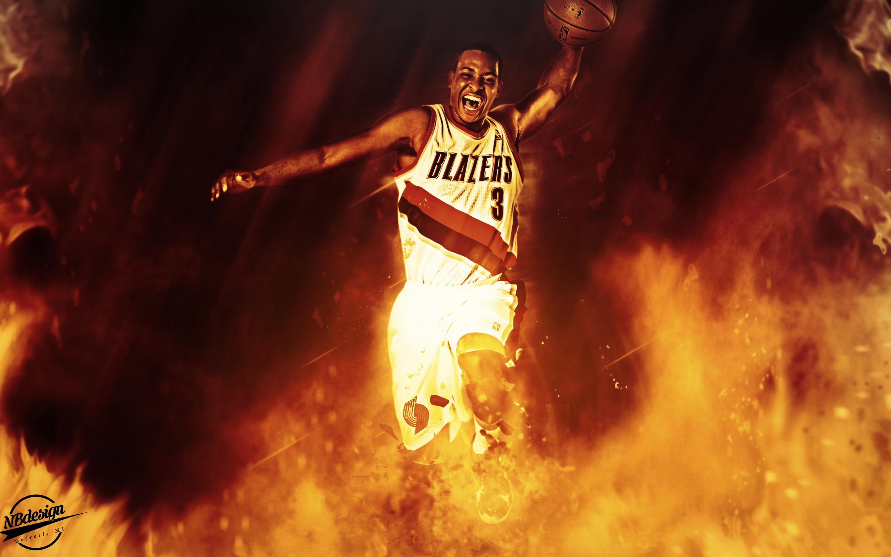 C. J. McCollum Trail Blazers 2016 Wallpaper