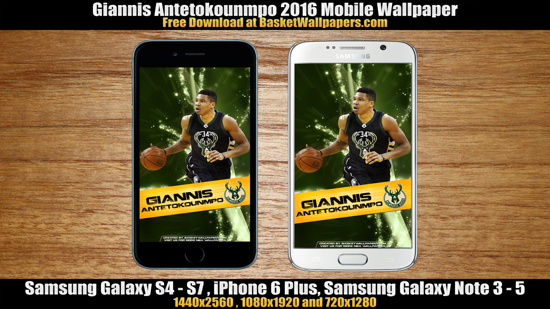 Giannis Antetokounmpo Milwaukee Bucks 2016 Mobile Wallpaper