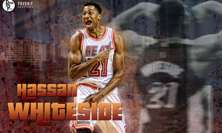 Hassan Whiteside Miami Heat 2016 Wallpaper