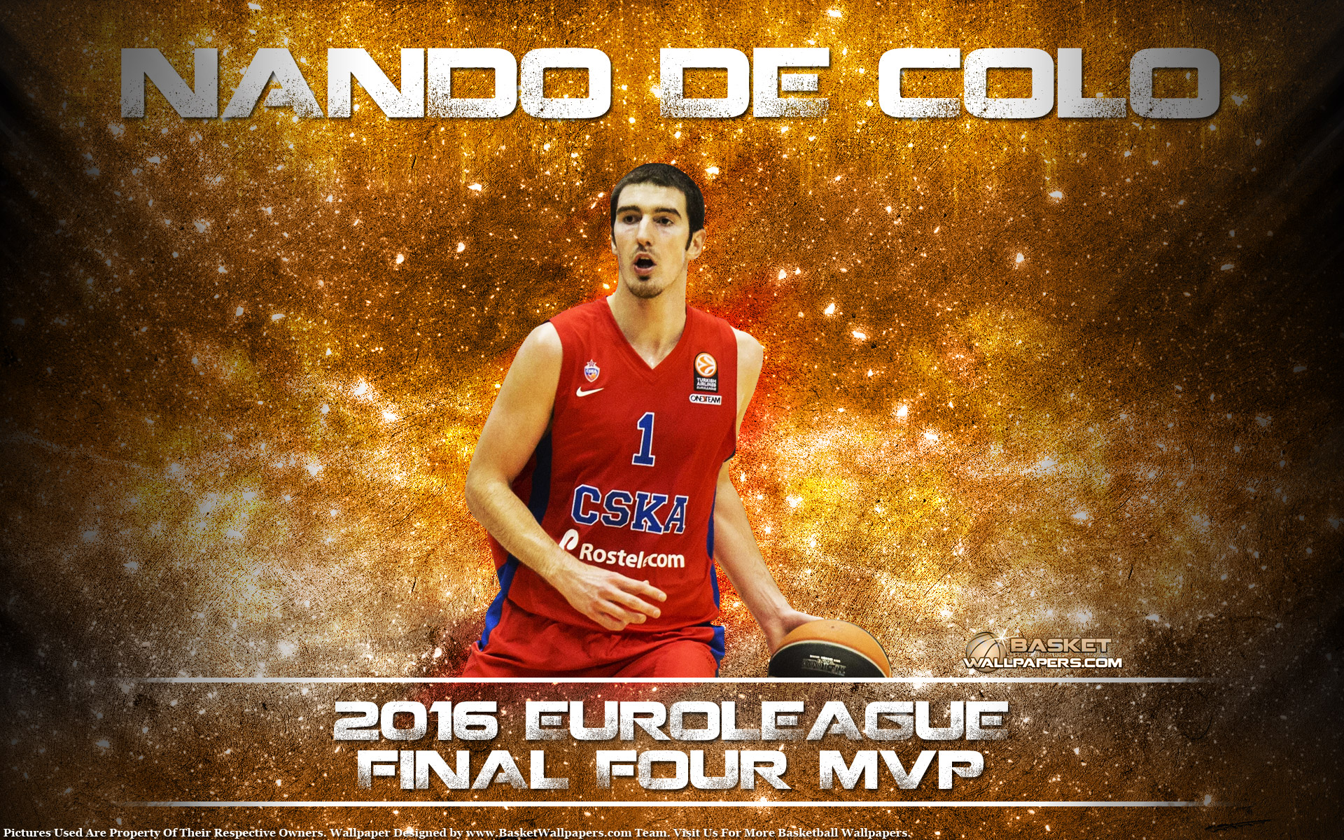 Nando De Colo 2016 Euroleague F4 MVP Wallpaper