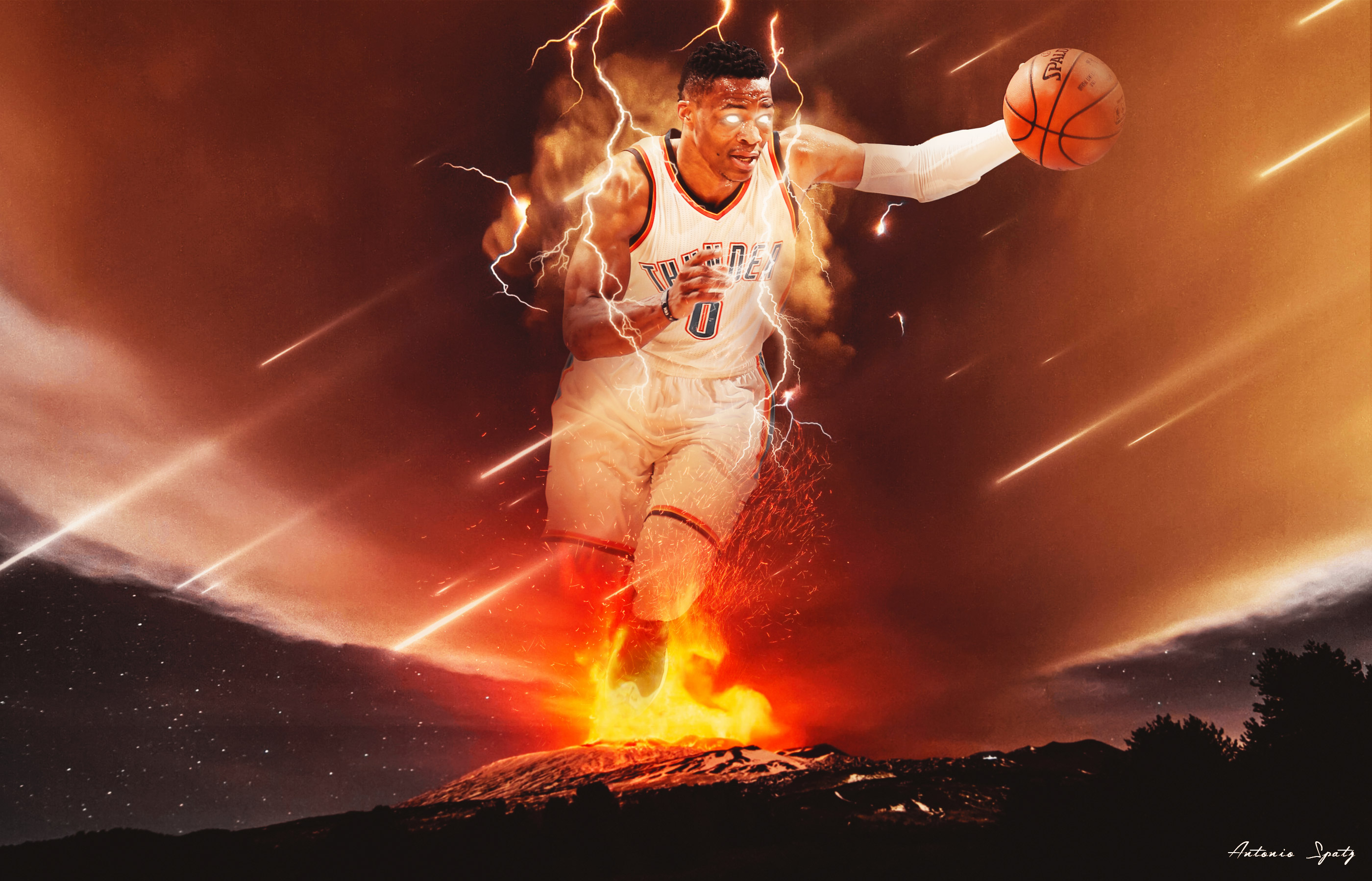 Russell Westbrook 2016 NBA Playoffs Wallpaper