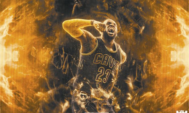 LeBron James 6th Straight NBA Finals Wallpaper