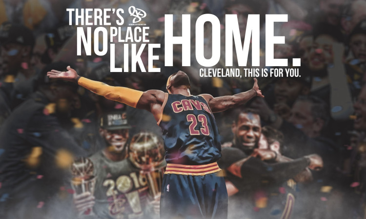 LeBron James NBA Title Celebration 2016 Wallpaper