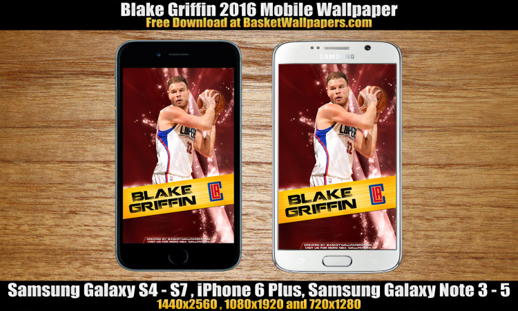 Blake Griffin Los Angeles Clippers 2016 Mobile Wallpaper