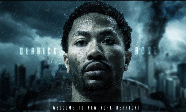 Derrick Rose Welcome to Knicks 1920x1080 Wallpaper