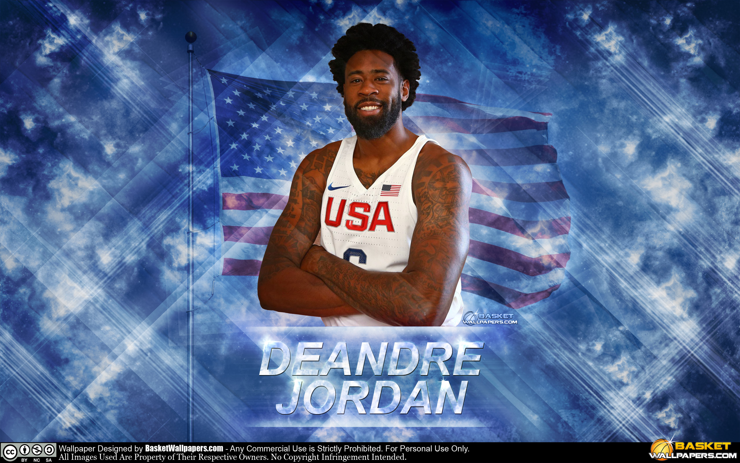 DeAndre Jordan USA 2016 Olympics Wallpaper