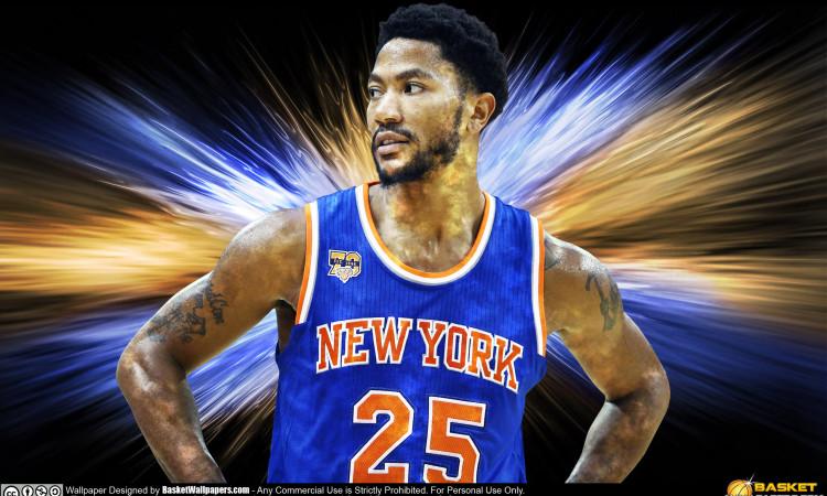 Derrick Rose New York Knicks 2016 Wallpaper